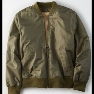 American Eagle Outfitters Jackets & Coats - American Eagle Reversible Fleece Bomber Jacket